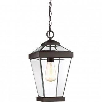 ELSTEAD QZ-RAVINE8-M | Ravine Elstead függeszték lámpa 1x E27 IP23 bronz, átlátszó