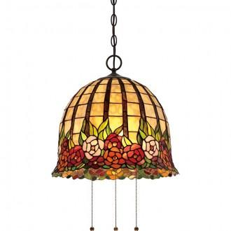 ELSTEAD QZ/ROSECLIFFE/P | Rosecliffe Elstead függeszték lámpa 3x E27 bronzbarna, többszínű
