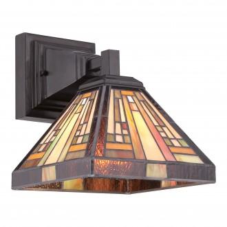 ELSTEAD QZ/STEPHEN1 | Stephen Elstead falikar lámpa kézzel készült 1x E27 bronzbarna, többszínű