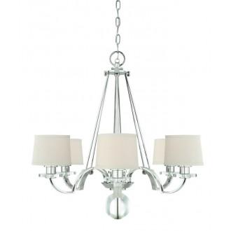 ELSTEAD QZ-SUTTON-PLACE6 | Sutton-Place Elstead csillár lámpa 6x E27 ezüst, fehér, átlátszó