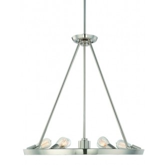 ELSTEAD QZ-THEATER-ROW6IS | Theater-Row Elstead csillár lámpa állítható magasság 6x E27 + 1x GU10 ezüst