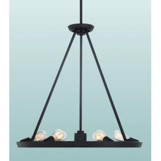 ELSTEAD QZ-THEATER-ROW6WT | Theater-Row Elstead csillár lámpa állítható magasság 6x E27 + 1x GU10 bronz