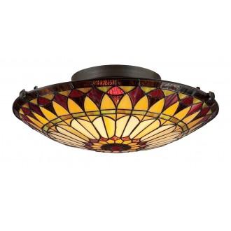 ELSTEAD QZ/WEST END/F | West-End Elstead mennyezeti lámpa 2x E27 bronzbarna, többszínű