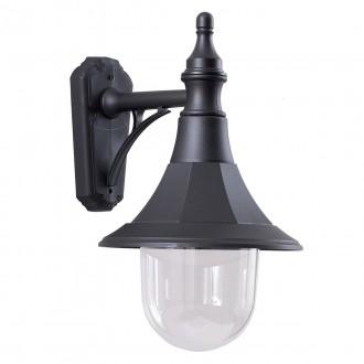 ELSTEAD SHANNON DOWN | Shannon-EL Elstead falikar lámpa tengerpartra tervezve 1x E27 IP44 UV fekete, átlátszó