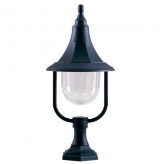 ELSTEAD SHANNON PED | Shannon-EL Elstead álló lámpa 50cm tengerpartra tervezve 1x E27 IP44 UV fekete, átlátszó