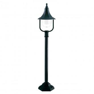 ELSTEAD SHANNON PILLAR | Shannon-EL Elstead álló lámpa 118cm tengerpartra tervezve 1x E27 IP44 UV fekete, átlátszó