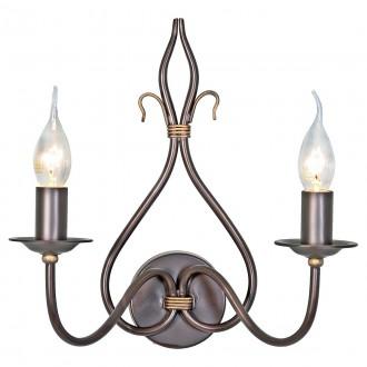 ELSTEAD WM2 | Windermere Elstead falikar lámpa kézzel festett 2x E14 antikolt fekete