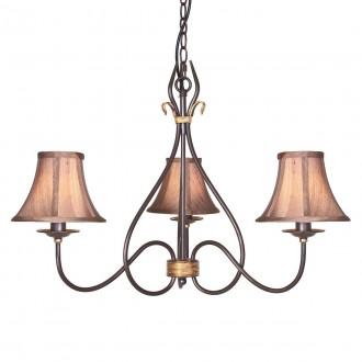 ELSTEAD WM3 | Windermere Elstead csillár lámpa kézzel festett 3x E14 antikolt fekete