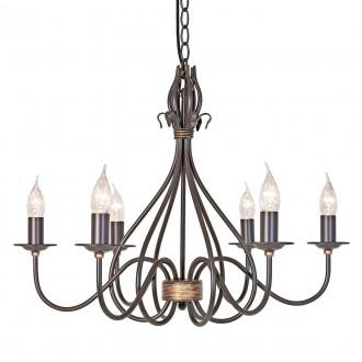 ELSTEAD WM6 | Windermere Elstead csillár lámpa kézzel festett 6x E14 antikolt fekete