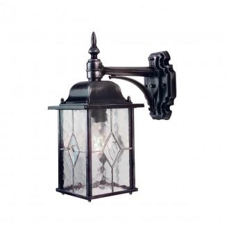ELSTEAD WX2 | Wexford Elstead falikar lámpa 1x E27 IP43 antikolt fekete, átlátszó