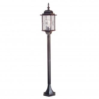 ELSTEAD WX4 | Wexford Elstead álló lámpa 123,5cm 1x E27 IP43 antikolt fekete, átlátszó