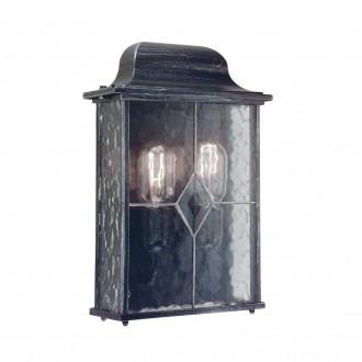 ELSTEAD WX7 | Wexford Elstead fali lámpa 2x E27 IP43 antikolt fekete, átlátszó