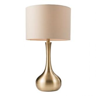 ENDON 61191 | Piccadilly-EN Endon asztali lámpa 41,8cm fényerőszabályzós érintőkapcsoló 1x E14 szatén sárgaréz, taupe
