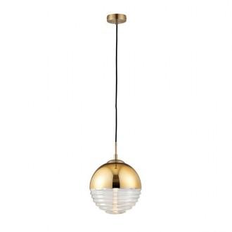 ENDON 68958 | Paloma-EN Endon függeszték lámpa 1x E14 arany, átlátszó