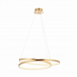 ENDON 72479 | Scribble-EN Endon függeszték lámpa 1x LED 1650lm 3000K antikolt arany, savmart