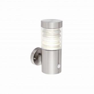 ENDON 72916   Equinox-EN Endon falikar lámpa fényérzékelő szenzor - alkonykapcsoló mozgásérzékelő 1x LED 141lm 4000K IP44 csiszolt acél, átlátszó