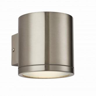 ENDON 73193   Nio Endon falikar lámpa 1x LED 510lm IP44 nemesacél, rozsdamentes acél, átlátszó