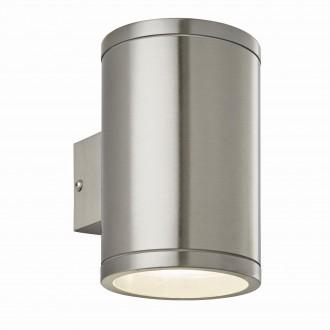ENDON 73194   Nio Endon falikar lámpa 1x LED 690lm IP44 nemesacél, rozsdamentes acél, átlátszó