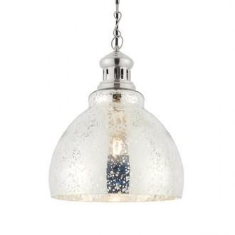ENDON 73569   Darna Endon függeszték lámpa állítható magasság 1x E27 fényes nikkel, áttetsző