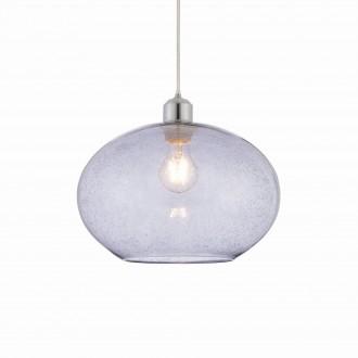 ENDON 73976 | Dimitri Endon függeszték lámpa vezeték nélküli 1x E27 króm, szürke, buborékos hatás