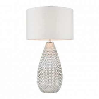 ENDON 77093 | Livia-EN Endon asztali lámpa 55cm vezeték kapcsoló 1x E27 ezüst, antikolt fehér