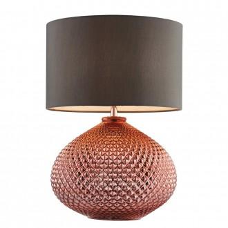 ENDON 77097 | Livia-EN Endon asztali lámpa 44,5cm vezeték kapcsoló 1x E27 vörösréz, szürke