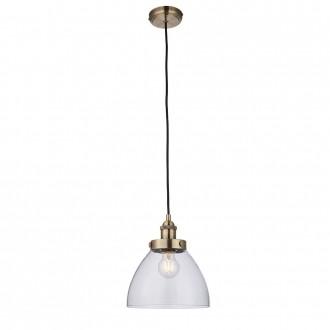 ENDON 77272 | Hansen Endon függeszték lámpa állítható magasság 1x E27 antikolt réz, átlátszó
