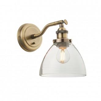 ENDON 77273 | Hansen Endon falikar lámpa kapcsoló 1x E14 antikolt réz, átlátszó