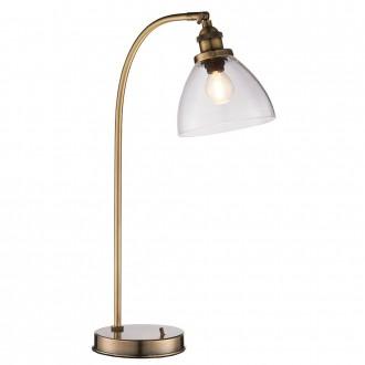 ENDON 77859 | Hansen Endon asztali lámpa 53,3cm kapcsoló 1x E14 antik vörösréz, átlátszó