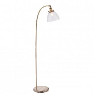 ENDON 77860 | Hansen Endon álló lámpa 152cm taposókapcsoló 1x E27 antik vörösréz, átlátszó
