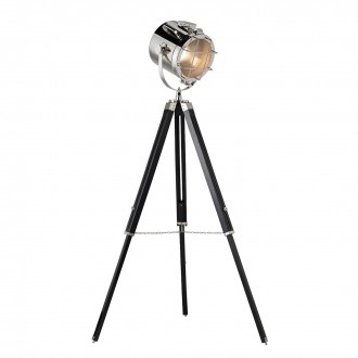 ENDON EH-NAUTICAL-FL | Nautical Endon álló lámpa 117cm taposókapcsoló elforgatható alkatrészek, állítható magasság 1x E27 króm, matt fekete