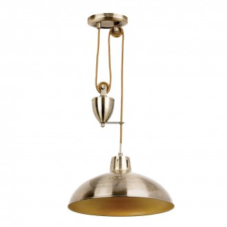 ENDON POLKA-AB | Polka-EN Endon függeszték lámpa ellensúlyos, állítható magasság 1x E27 antikolt réz