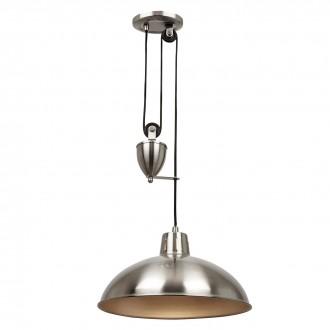 ENDON POLKA-SN | Polka-EN Endon függeszték lámpa ellensúlyos, állítható magasság 1x E27 szatén nikkel
