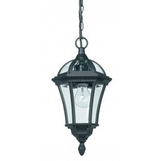 ENDON YG-3503 | Drayton Endon függeszték lámpa 1x E27 IP44 antikolt fekete, átlátszó