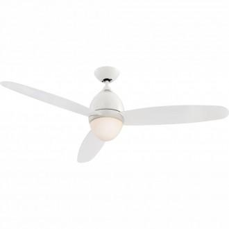 GLOBO 0300 | Premier Globo mennyezeti ventilátoros lámpa távirányító 2x E27 fehér, áttetsző