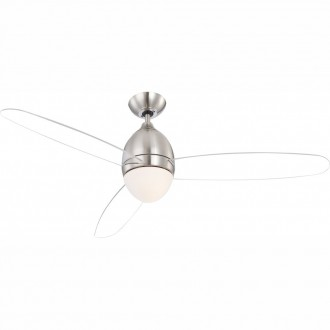 GLOBO 0302 | Premier Globo mennyezeti ventilátoros lámpa távirányító 2x E14 matt nikkel, fehér, átlátszó