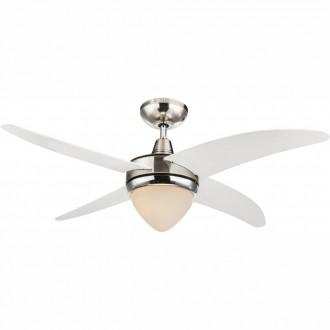 GLOBO 03060 | Cabrera Globo mennyezeti ventilátoros lámpa távirányító 1x E27 matt nikkel, króm, fehér