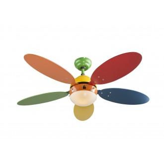 GLOBO 03180 | Wade-I Globo mennyezeti ventilátoros lámpa húzókapcsoló 1x E14 többszínű