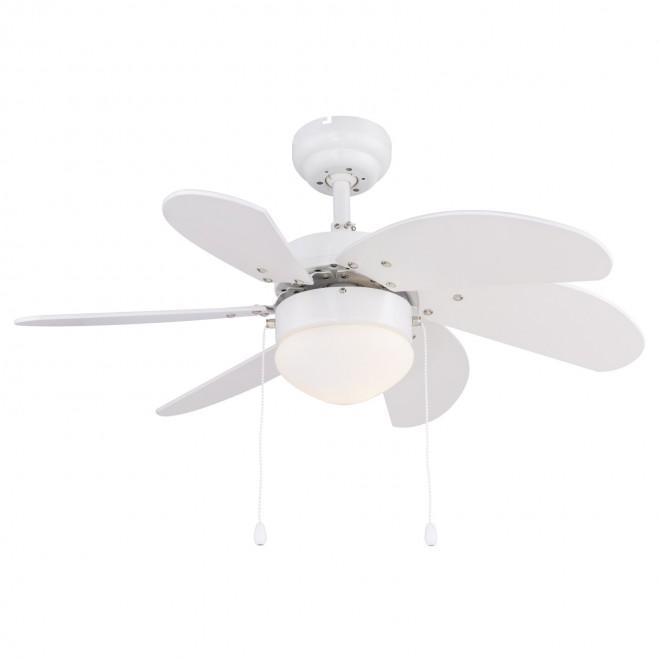 GLOBO 03302   Rivaldo Globo mennyezeti ventilátoros lámpa húzókapcsoló 1x E14 fehér