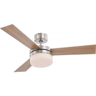 GLOBO 0333 | Alana Globo mennyezeti ventilátoros lámpa távirányító 2x E14 matt nikkel, ezüst, fehér