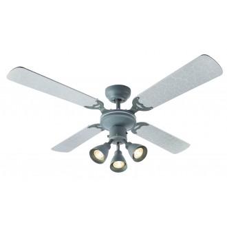 GLOBO 03357 | HarveyG Globo mennyezeti ventilátoros lámpa húzókapcsoló 3x GU10 ezüst, beton