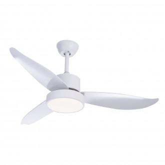 GLOBO 03600 | Ramona_GL Globo mennyezeti ventilátoros lámpa távirányító 1x LED 990lm 4000K fehér, szatén