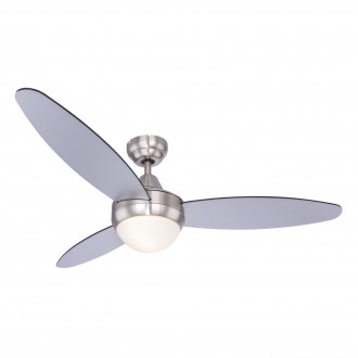 GLOBO 03611 | Cordula Globo mennyezeti ventilátoros lámpa távirányító 2x E14 matt nikkel, fekete, ezüst