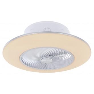 GLOBO 03623   Kello Globo ventilátoros lámpa mennyezeti távirányító szabályozható fényerő, állítható színhőmérséklet, időkapcsoló, éjjelifény 1x LED 1900lm 3000 <-> 6000K fehér, ezüst, ezüstszürke