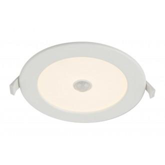 GLOBO 12391-12S | Unella Globo beépíthető lámpa mozgásérzékelő Ø170mm 1x LED 1200lm 3000K IP44/20 fehér, matt opál