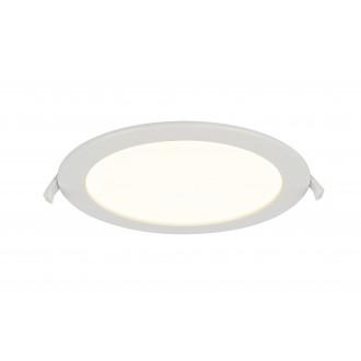 GLOBO 12392-18 | Polly Globo beépíthető lámpa Ø220mm 1x LED 1600lm 3000K IP44/20 fehér, matt opál