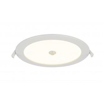 GLOBO 12392-18S | Polly Globo beépíthető lámpa mozgásérzékelő Ø220mm 1x LED 1900lm 3000K IP44/20 fehér, matt opál
