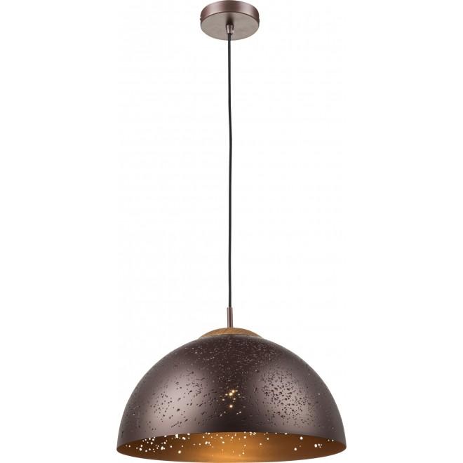 GLOBO 15000 | Tamor Globo függeszték lámpa 1x E27 bronz, fa.