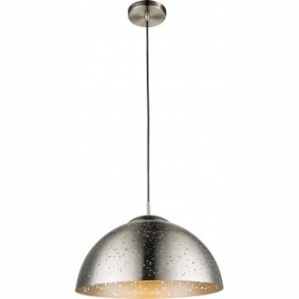 GLOBO 15001 | Tamor Globo függeszték lámpa 1x E27 matt nikkel, ezüst
