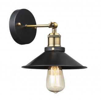 GLOBO 15053W | Lenius Globo fali lámpa 1x E27 metál fekete, antikolt réz